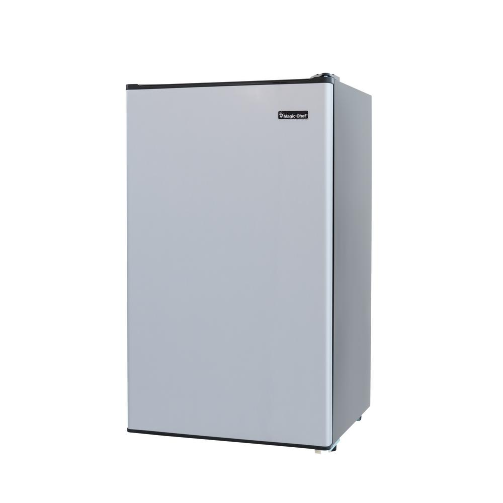Magic Chef 3 3 Cu Ft Mini Fridge In Stainless Look Hmr330se The Home Depot