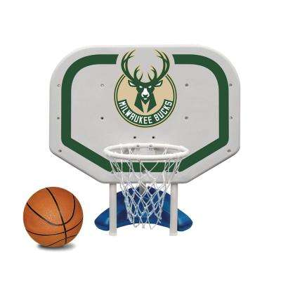 Milwaukee Bucks NBA Pro Rebounder Swimming Pool Basketball Game