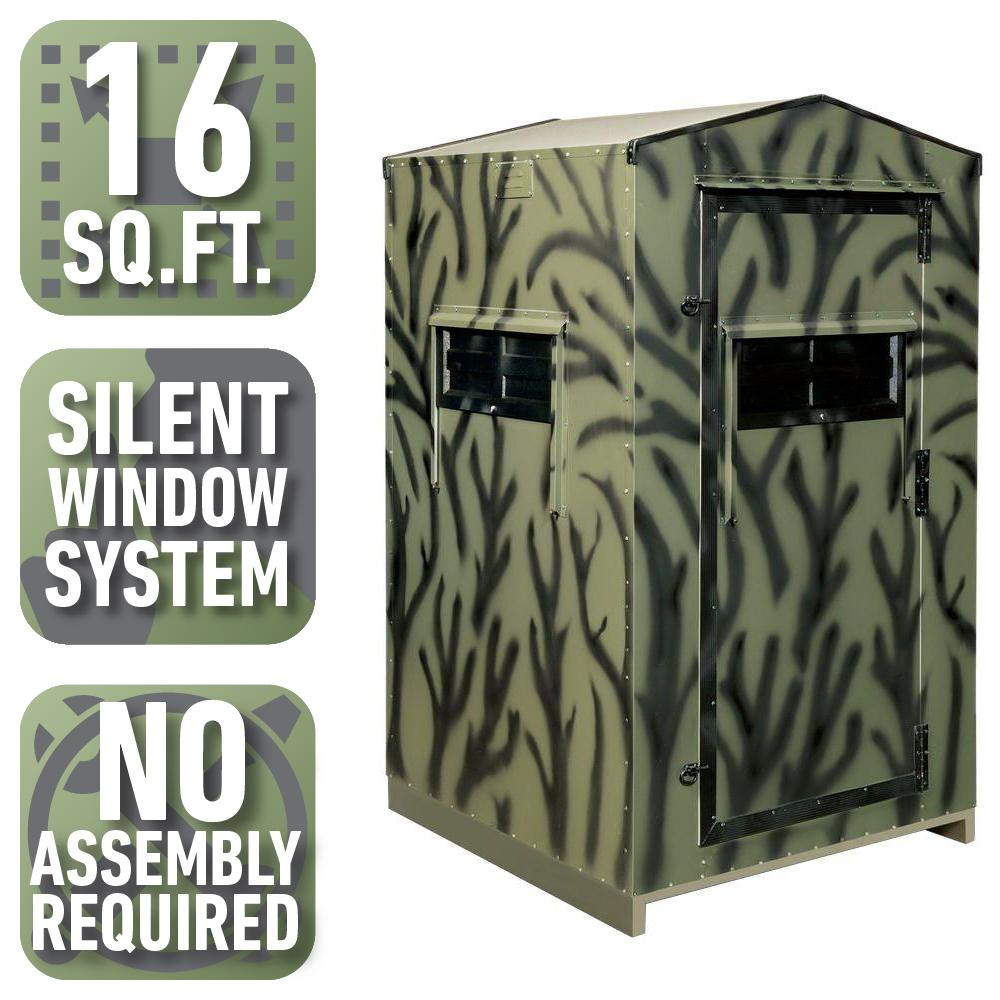 4 ft. x 4 ft. Insulated Gun Hunting Blind (Pre-Assembled)