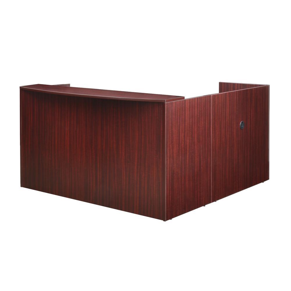 Legacy Mahogany Double Box File Pedestal Reception Desk