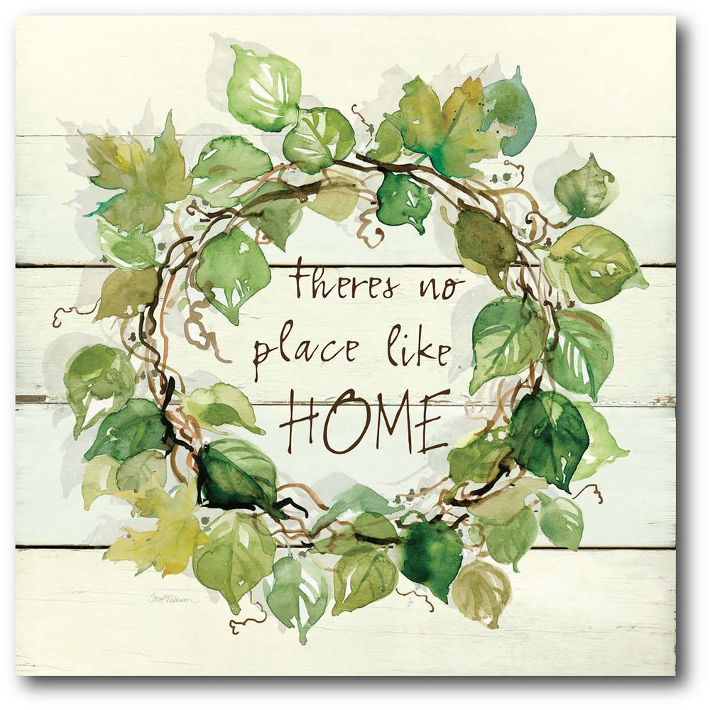 Courtside Market Home Wreath Gallery-Wrapped Canvas Nature Wall Art 24 in. x 24 in., Multi Color was $115.0 now $64.03 (44.0% off)