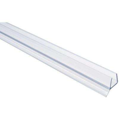 36 in. Frameless Shower Door Seal with Wipe for 1/4 in. Glass in Clear