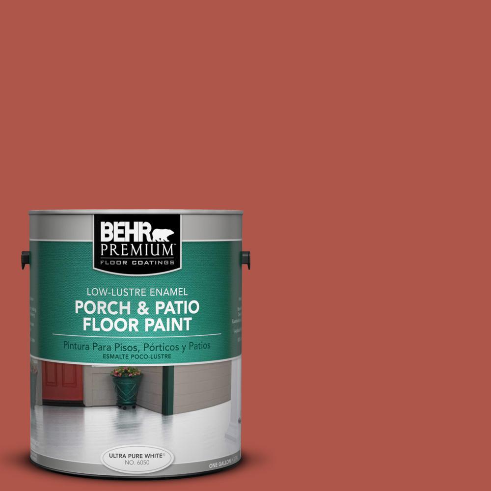 1 gal. #PPU2-14 Tibetan Orange Low-Lustre Porch and Patio Floor Paint
