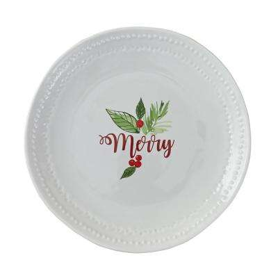 Merry White Plate (Set of 4)