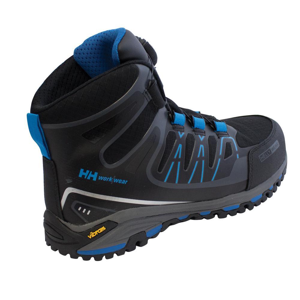 c2634b97cbc Helly Hansen Fjell Mid Boa Men Size 11.5 Black/Blue Nylon Composite Toe  Work Boot
