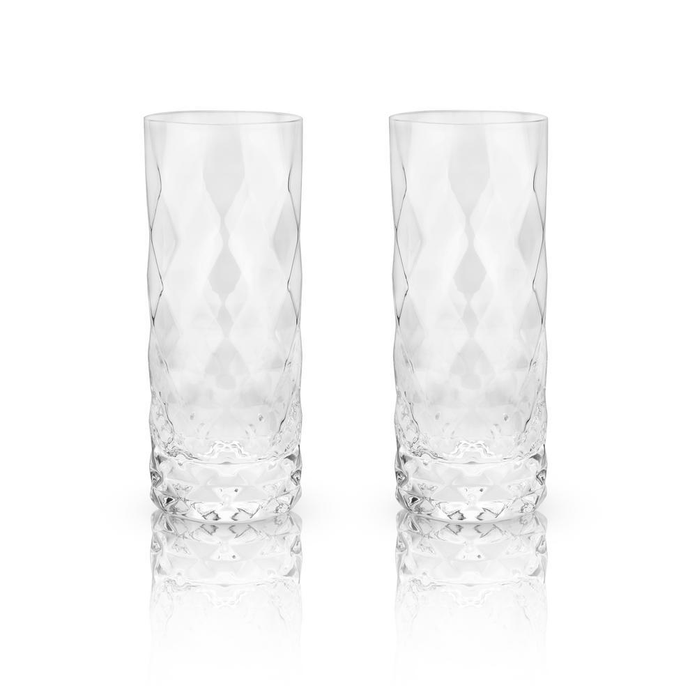 Viski 2-Piece Gem Crystal Highball Glass Set 5205
