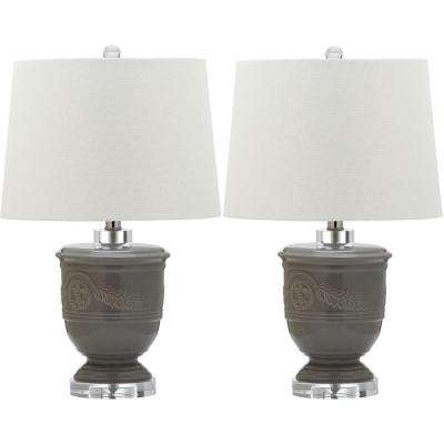 Shoal 23.5 in. Gray Table Lamp (Set of 2)