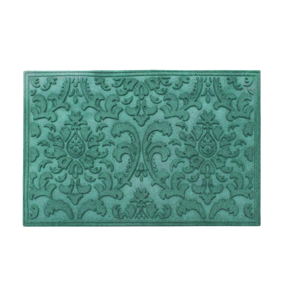 A1HC Brocade Green 24 in. x 36 in. Eco-Poly Scraper Mat