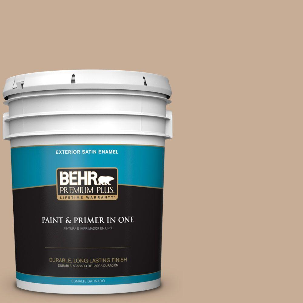 5-gal. #280E-3 Toasted Wheat Satin Enamel Exterior Paint