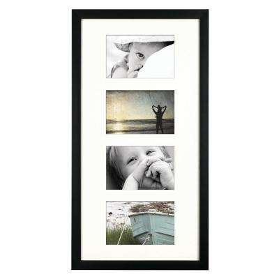 4-Opening 4 in. x 6 in. Matted Picture Frame