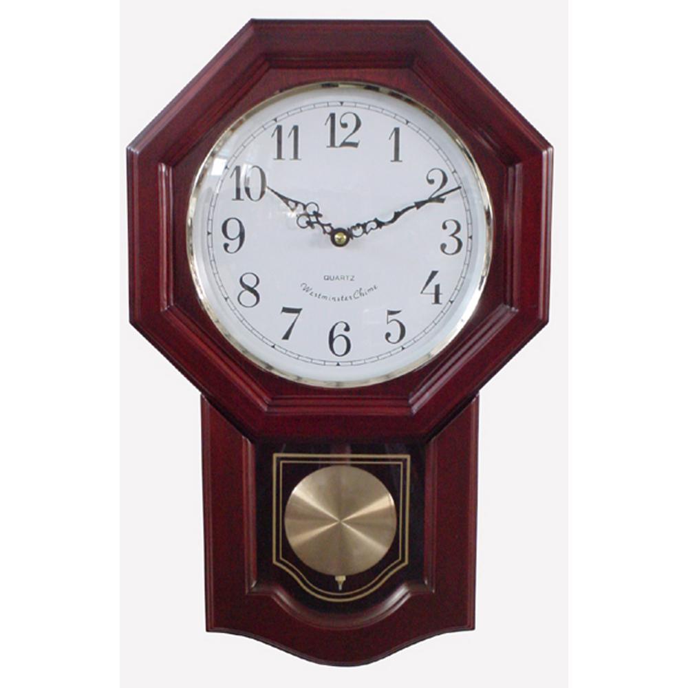 Classic Schoolhouse Cherry Wall Clock