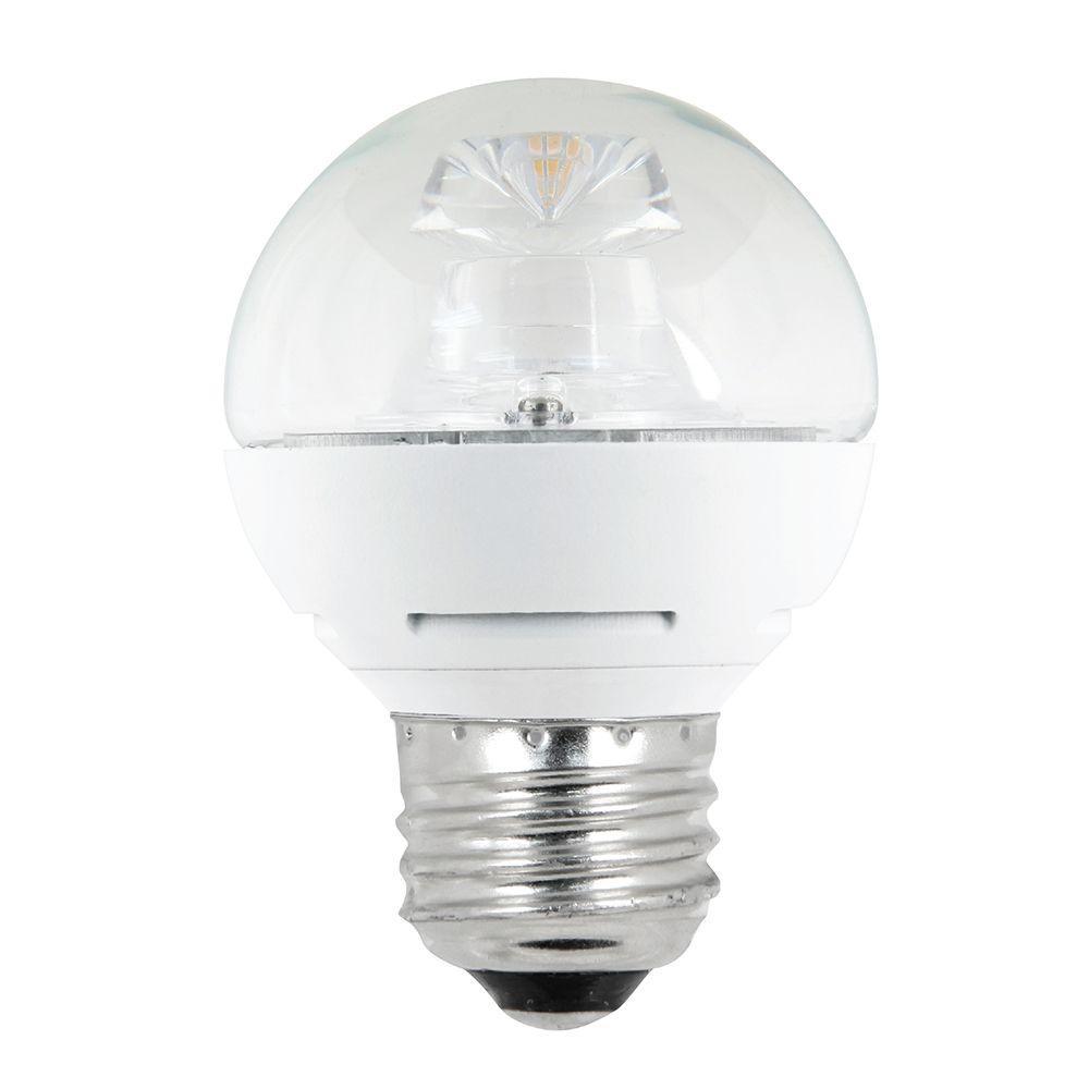 60W Equivalent Soft White (2700K) G16.5 Medium Base Dimmable LED Light Bulb