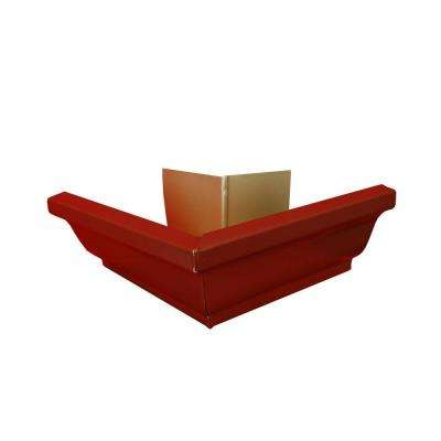 6 in. Red Aluminum Outside Gutter Mitre Box