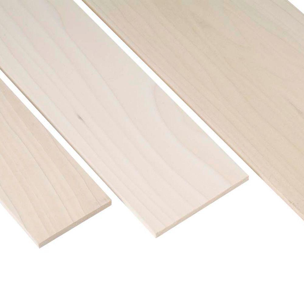 Waddell 1 in. x 2 in. x 3 ft. Poplar Project Board