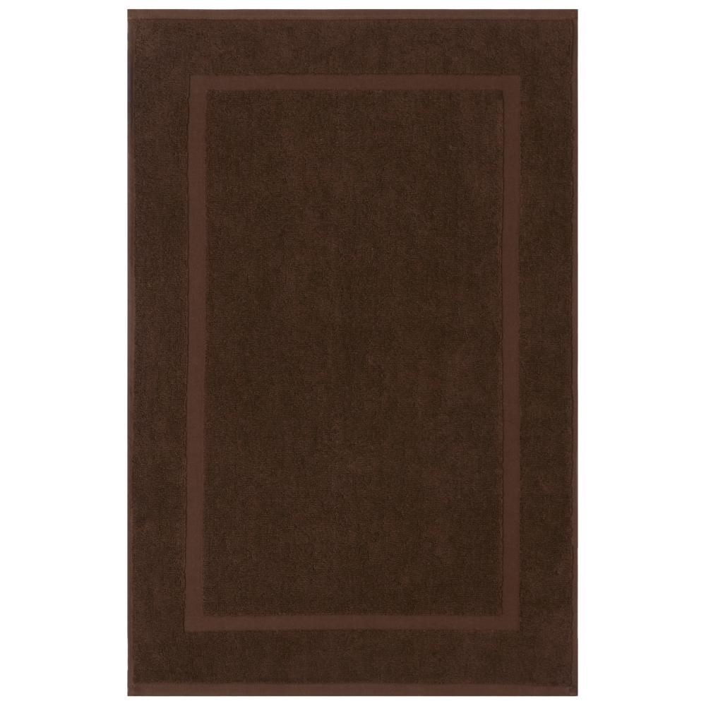 Newport Chocolate 20 in. x 34 in. Egyptian Cotton Bath Mat