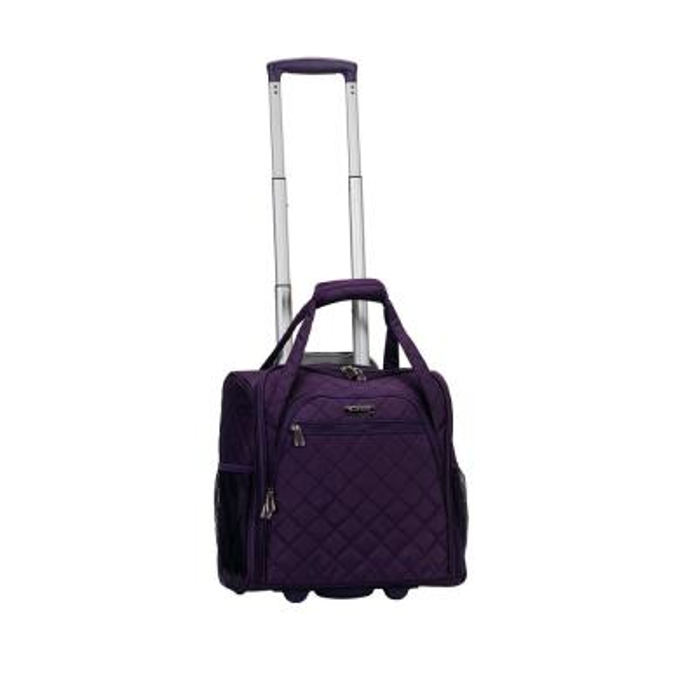 Purple Melrose Wheeled Underseat Carry-On