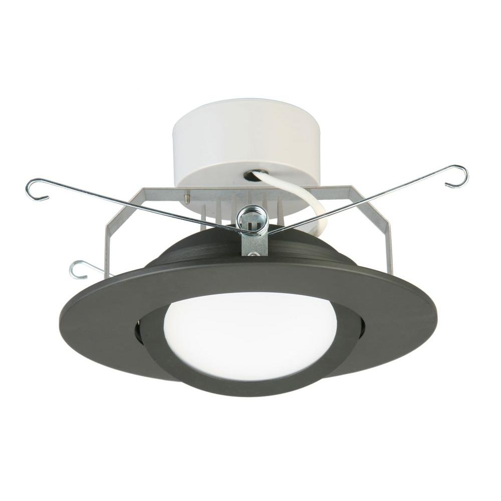 Lithonia Lighting 6 In. Matte Black Recessed Gimbal LED