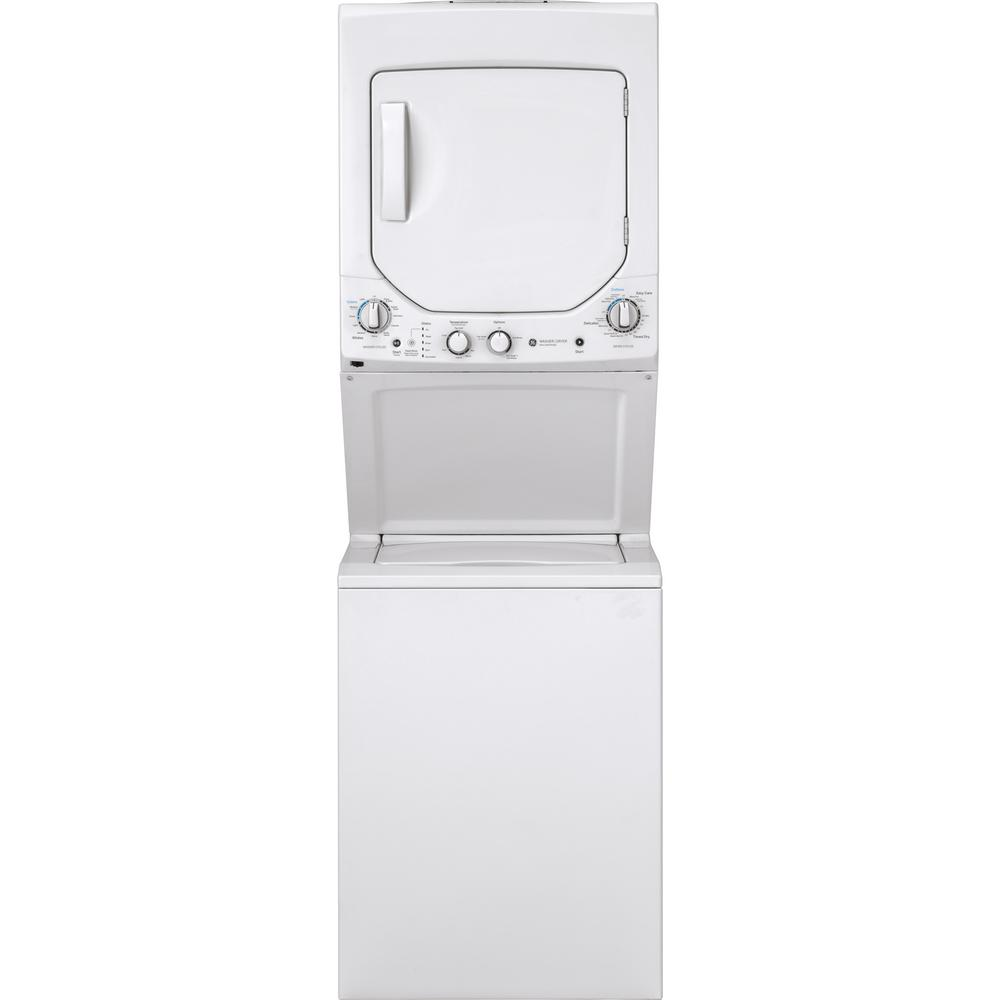 Ge Appliance Warranty >> Ge White Laundry Center With 2 3 Cu Ft Washer And 4 4 Cu Ft 240
