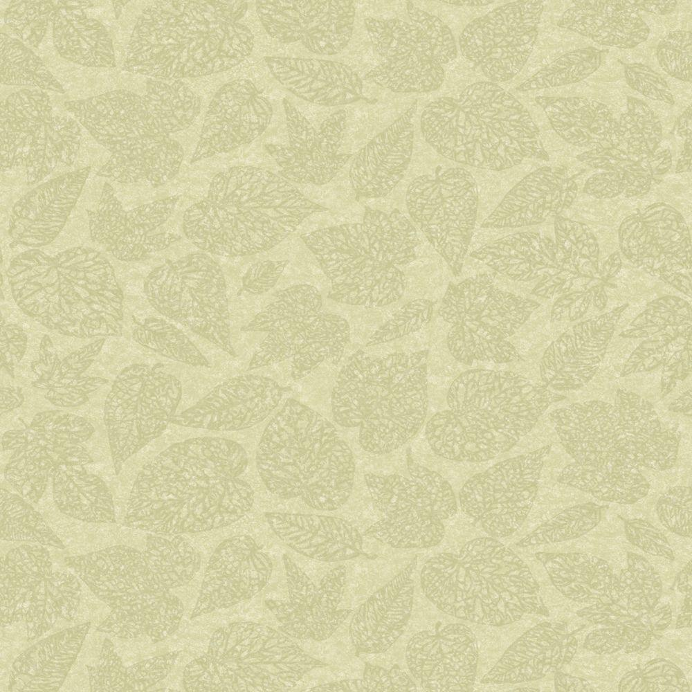 The Wallpaper Company 8 in. x 10 in. Green Leaf Print Wallpaper Sample