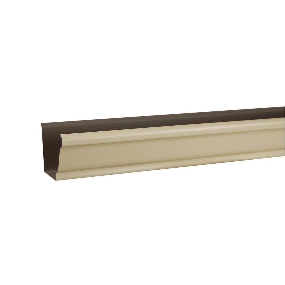 6 in. x 10 ft. K-Style Heritage Cream Aluminum Gutter