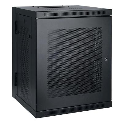 SmartRack 15U Low-Profile Switch-Depth Wall-Mount Rack Enclosure Cabinet, Hinged Back