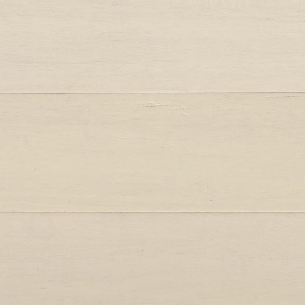 Home Decorators Collection Take Home Sample - Hand Scraped Wire Brush Strand Woven White Solid Bamboo Flooring - 5 in. x 7 in.