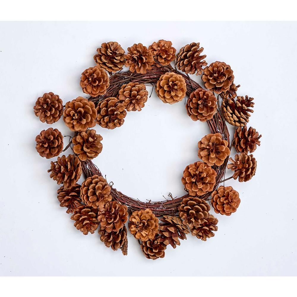 16 In Pinecone Wreath 7270 The Home Depot