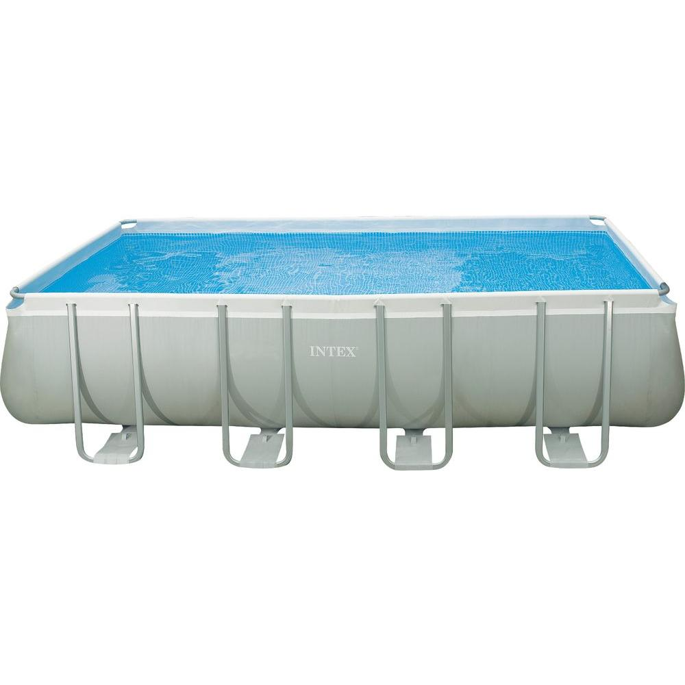 Intex 18 ft. x 9 ft. x 52 in. Rectangular Ultra Frame Pool Set