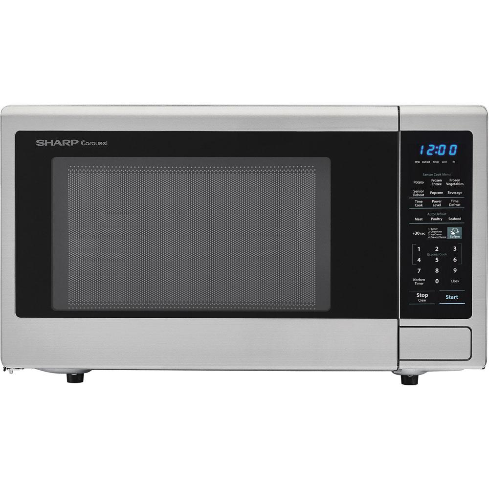 Sharp Carousel 1 8 Cu Ft 1100w Countertop Microwave Oven In Stainless Steel Ista
