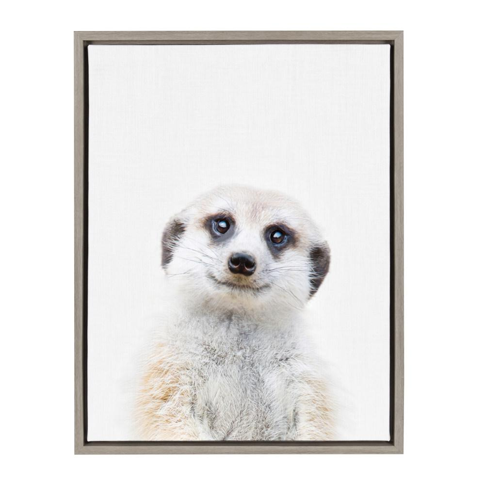 "Sylvie ""Animal Studio Meerkat"" by Amy Peterson Framed Canvas Wall Art"