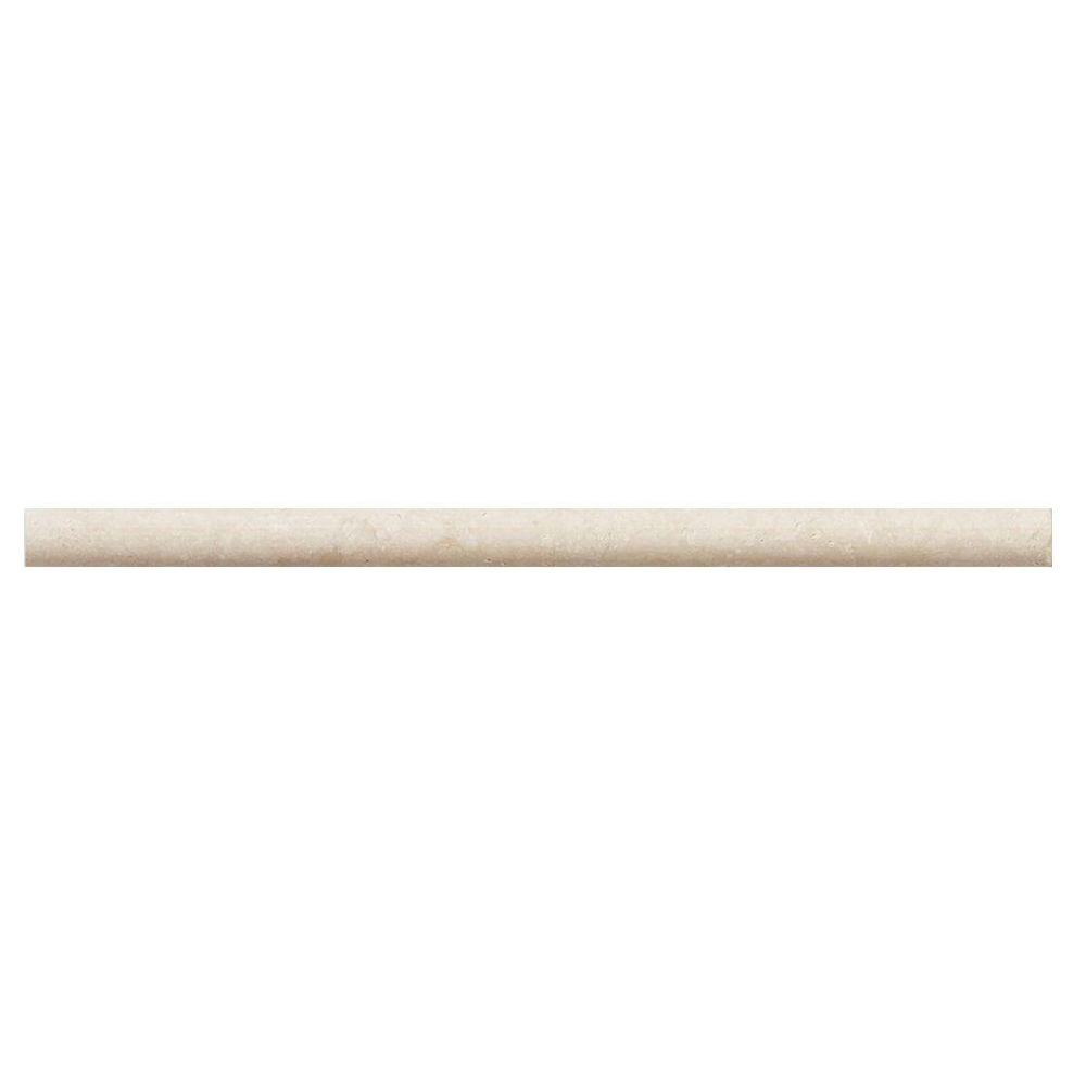 Creama 3/4 in. x 12 in. Marble Dome Trim Wall Tile