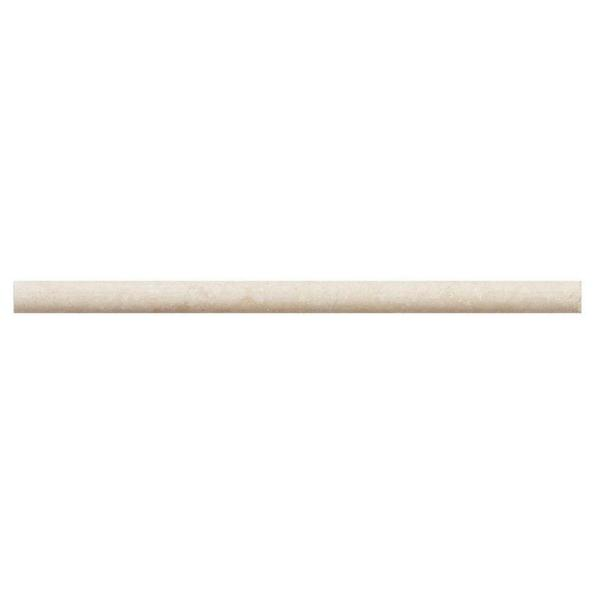 Creama .75 in. x 12 in.  Honed Marble Wall Pencil Tile (1 Linear Foot)
