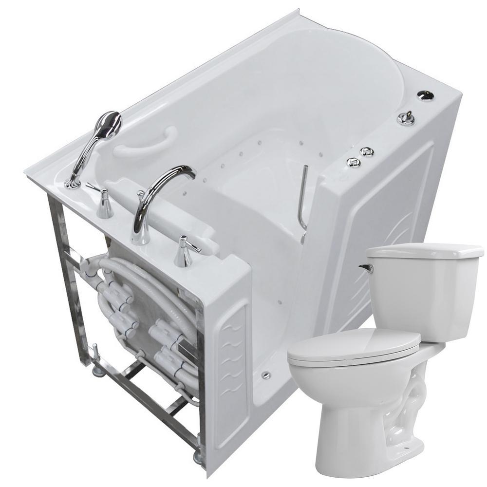 Universal Tubs Nova Heated 52.8 in. Walk-In Air Bath Tub in White ...