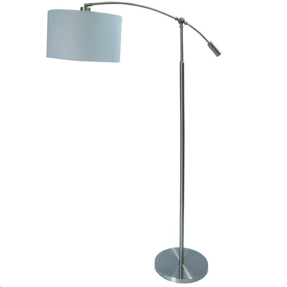 Adjustable Height Brushed Steel Arc Lamp   Title 20