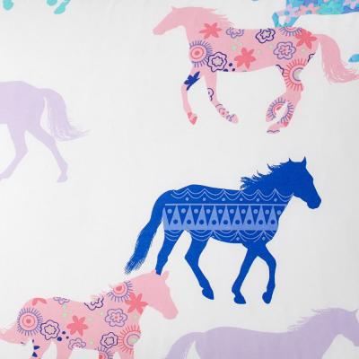 Prancing Ponies 200-Thread Count Cotton Percale Duvet Cover
