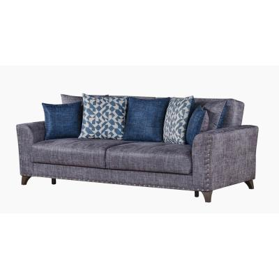 Ashley 93Gray Chenille 3-Seater Full Sleeper Convertible Sofa Bed with Square Arms