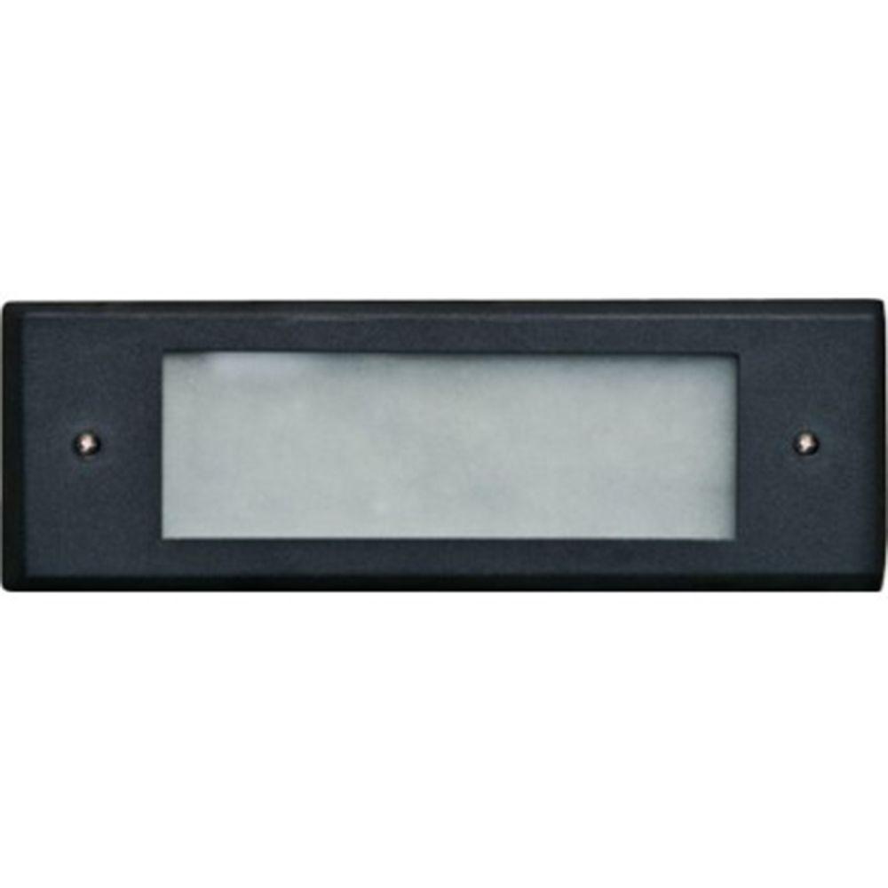 Ashler 2-Light Black Outdoor LED Recessed Step Light