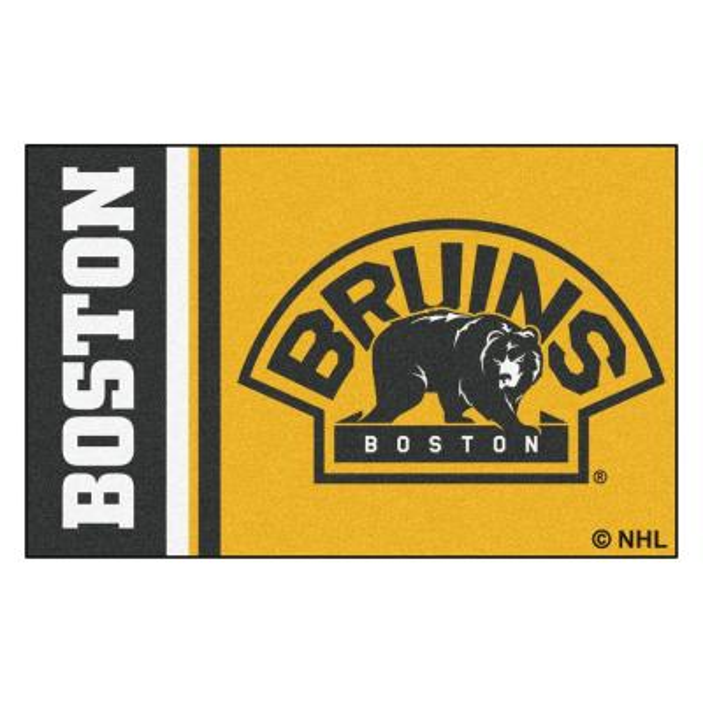 NHL - Boston Bruins Gold 2 ft. x 3 ft. Indoor Area Rug