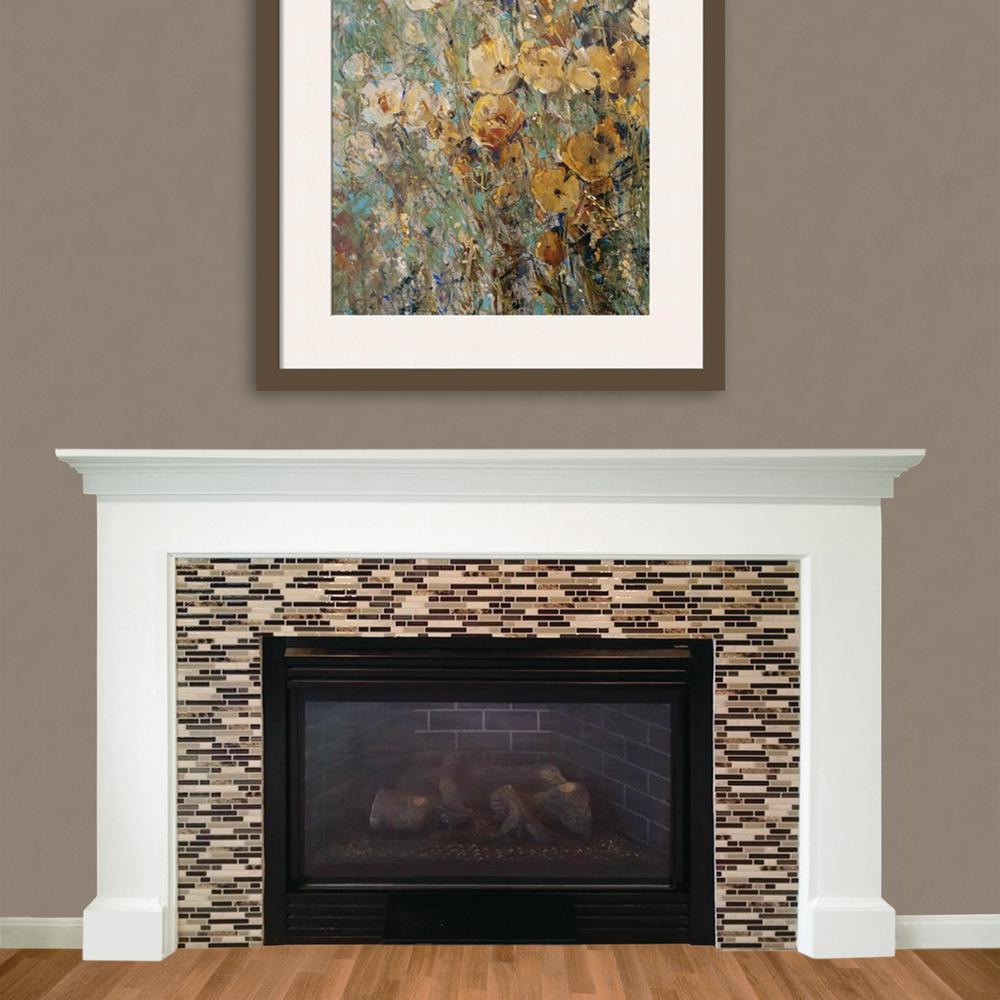 Smart Tiles Bellagio Keystone 10.06 in. W x 10.00 in. H Peel and Stick Decorative Mosaic Wall Tile Backsplash (6-Pack)