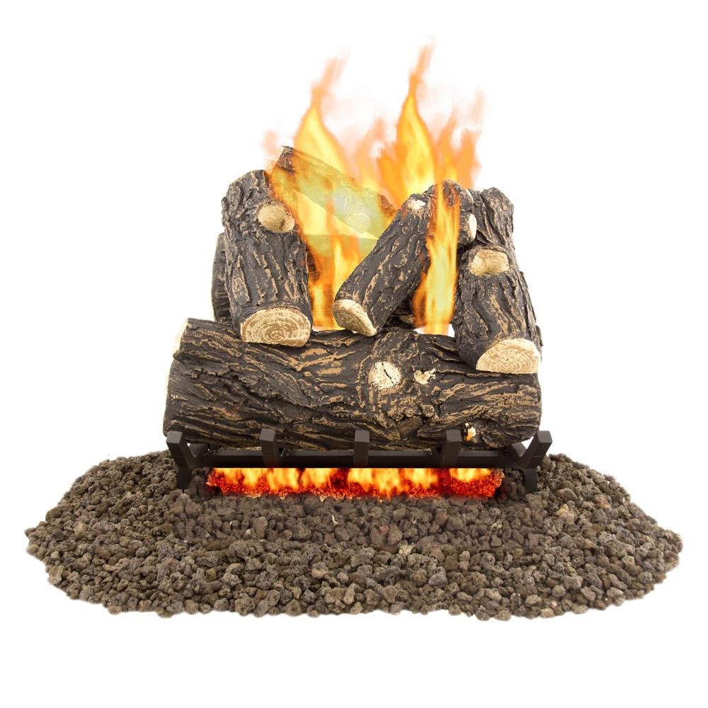 pleasant hearth willow oak 18 in vented gas log set vl wo18d