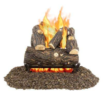 Pleasant Hearth Willow Oak 18 In Vented Gas Log Set Vl Wo18d The