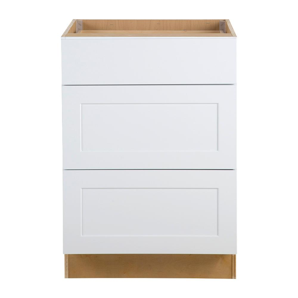 Assembled 24x34 5x24 In Drawer Base Kitchen Cabinet In: Hampton Bay Cambridge Assembled 24x34.5x24.5 In. Base