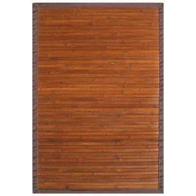 Contemporary Chocolate Brown 6 ft. x 9 ft. Area Rug