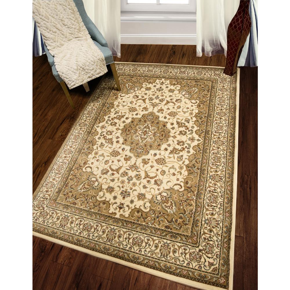 Bazaar Trim Ivory 5 Ft X 7 Ft Indoor Area Rug 2 Hd2412 100 The