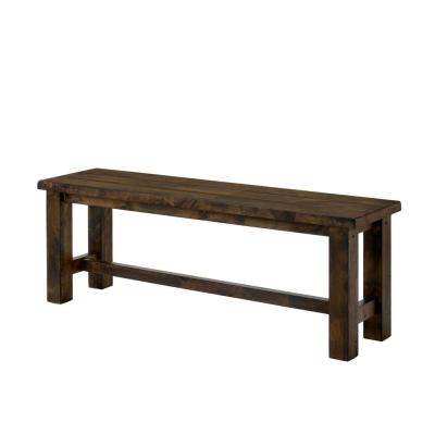 Turner Rustic Oak Wood Bench
