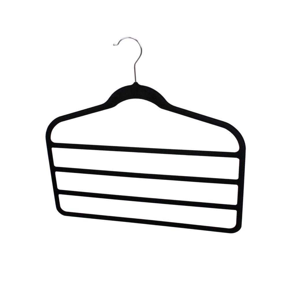 Black Velvet Trouser Hanger (3-Pack)