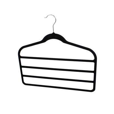 Black Velvet Trouser Hanger (3-Pack)