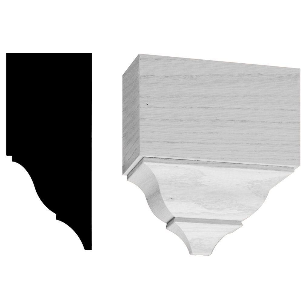 3-1/4 in. x 7-1/2 in. x 7-1/4 in. Wood Mid-Crown Block Moulding