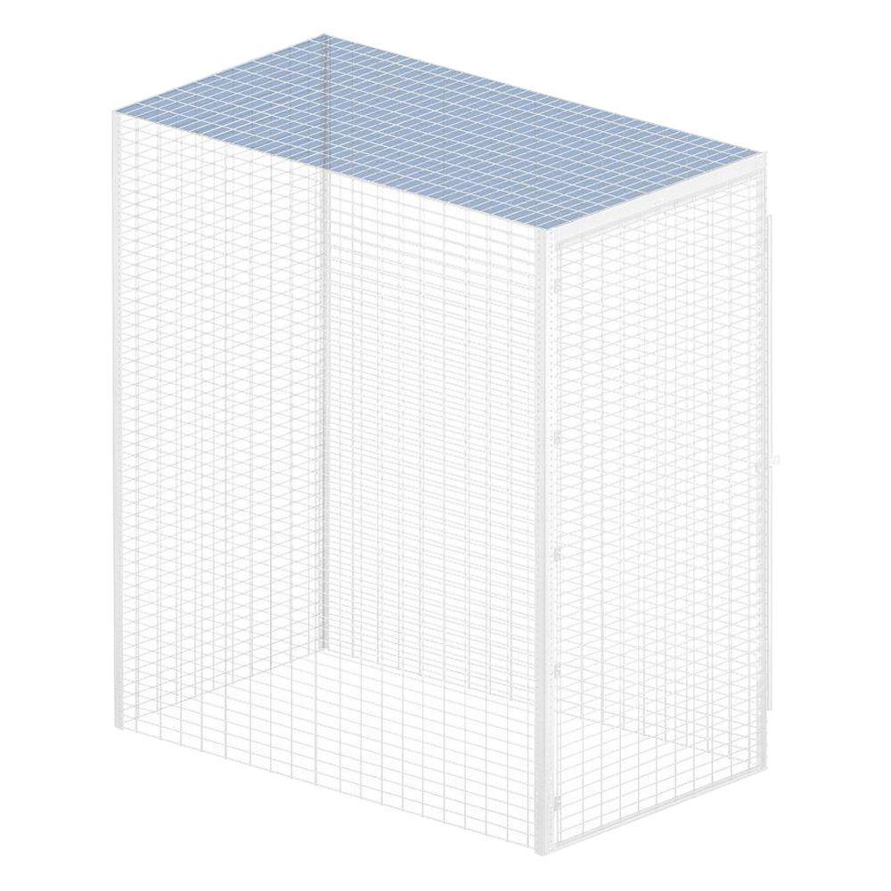 Storage Locker Option 36 in. W x 60 in. D x 0.5 in. H for Top Bulk Storage Locker in Aluminum