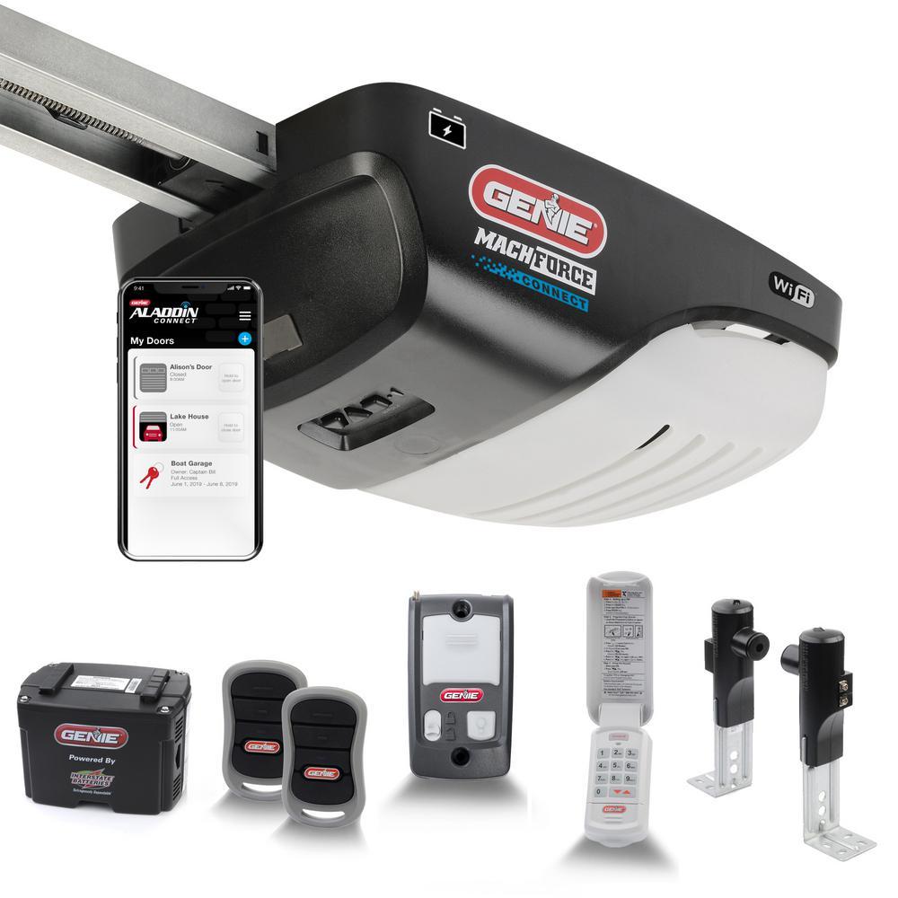 2 HPC Premium Screw Drive Smart Garage Door Opener with Battery Backup- Alexa and Google Assistant Ready